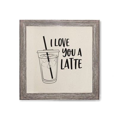 I Love You a Latte Canvas Kitchen WALL ART