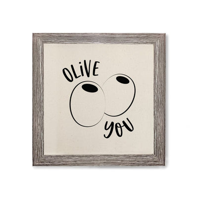 Olive You Canvas Kitchen Wall Art