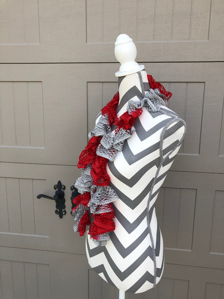 Sashay Red and Scarlet Team Ruffled Scarf