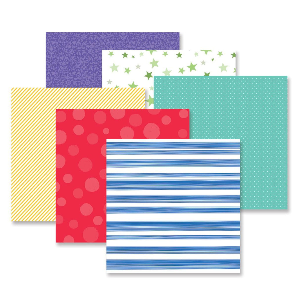 Creative Memories Fresh Fusion Cheerful Paper Pack (12/pk)