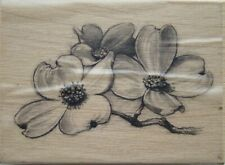 DOGWOOD FLOWERS Rubber Stamp 97829 Inkadinkado branch floral-- GARAGE SALE--