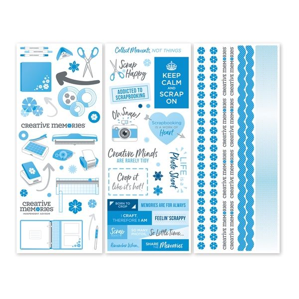 Creative Memories Scrap Happy 2018 Stickers (3/pk)
