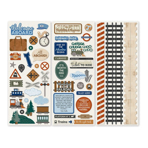 Creative Memories Trains Stickers (3/pk)