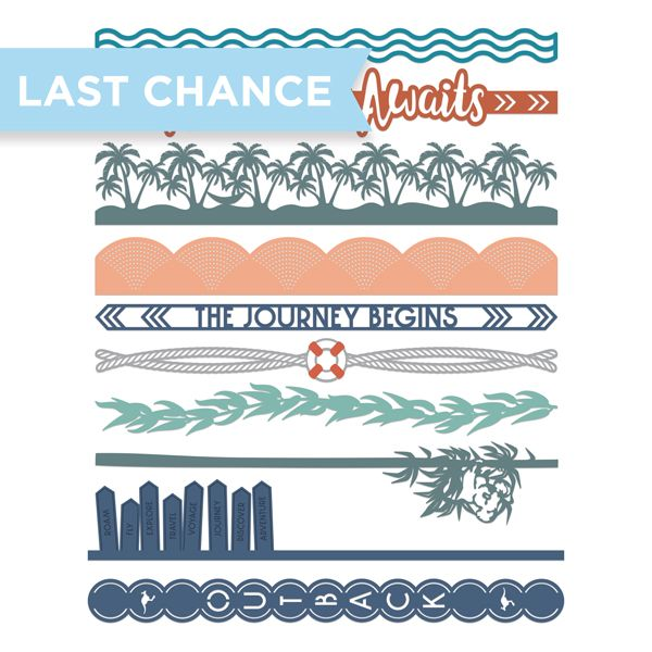 Creative Memories Walkabout Laser Cut Border Embellishments