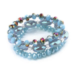 Faceted bead elastic bracelet