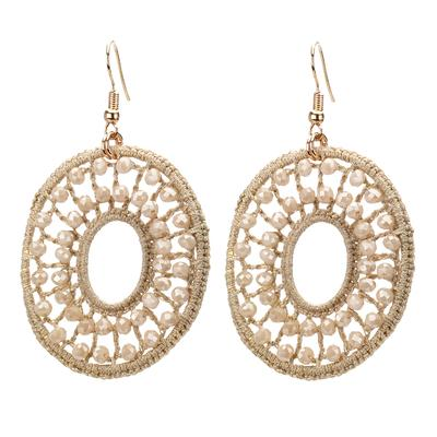 Crochet Oval Drop Earring - Final Sale