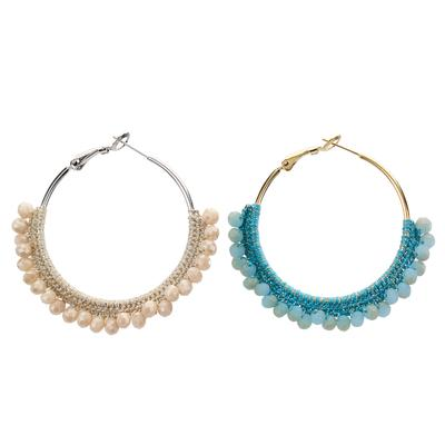 Beaded Hoop Earring - Final Sale