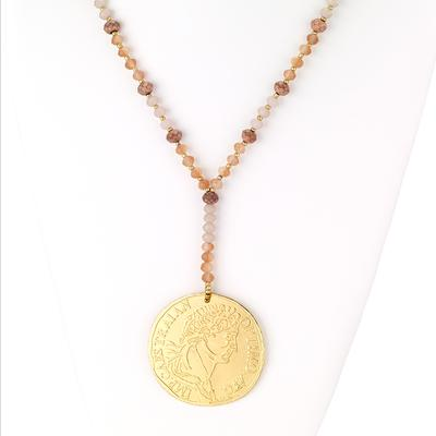 Greek Coin Drop Necklace - Final Sale