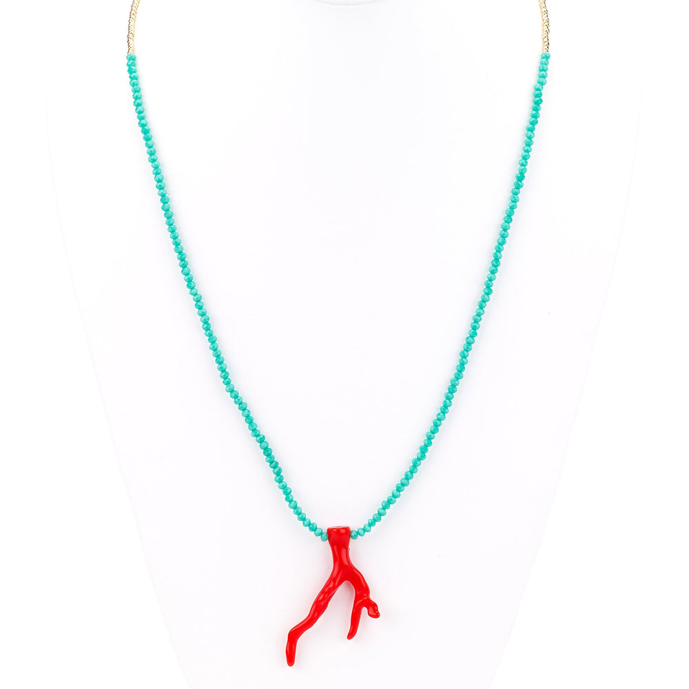 Coral Pendant Necklace - Final Sale