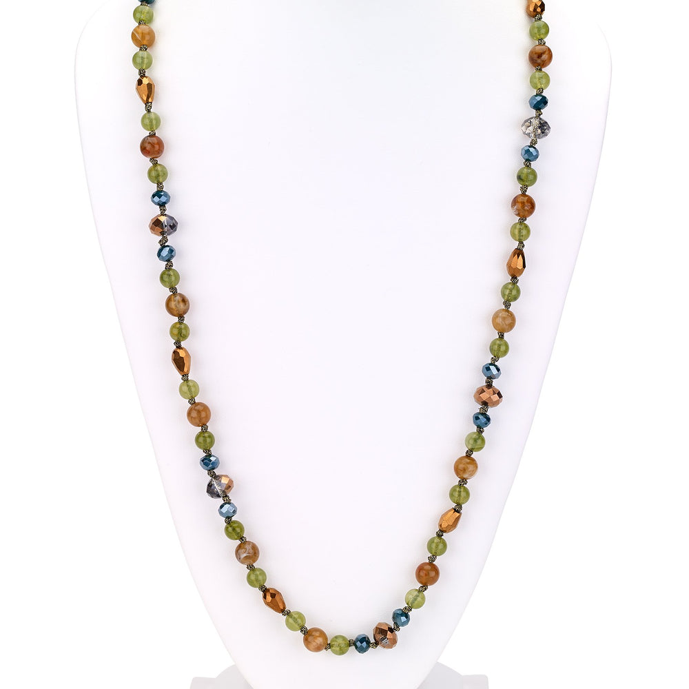Beaded  long combo necklace gold