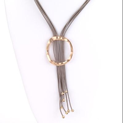 Multi Strand Lariat Necklace with Ring - Final Sale