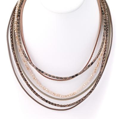Multi Strand Leather Necklace - Final Sale