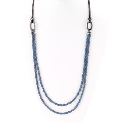Faceted Bead & Leather Necklace - Final Sale