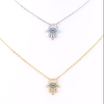 Hamsa/Evil Eye Charm Necklace - Final Sale