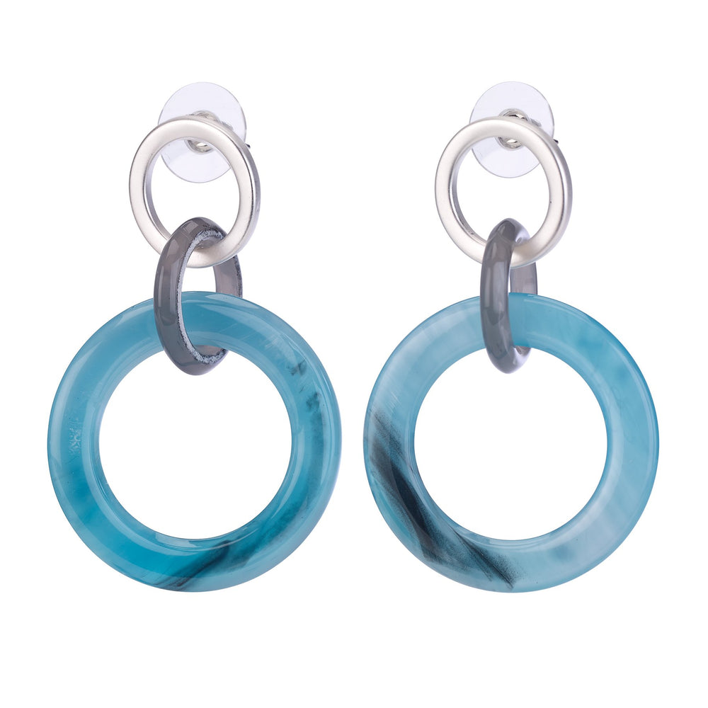 Triple hoop resin earring.