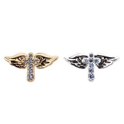 Cross Stud With Wings Earring - Final Sale