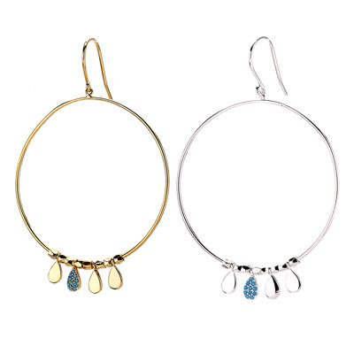 Hoop With Drop Beads Earring - Final Sale