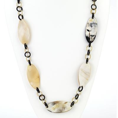 Horn Oval Twist Necklace - Final Sale
