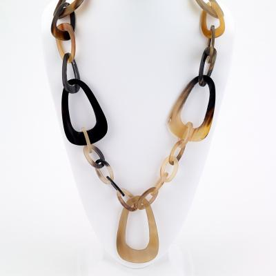 Large Link Horn Necklace - Final Sale