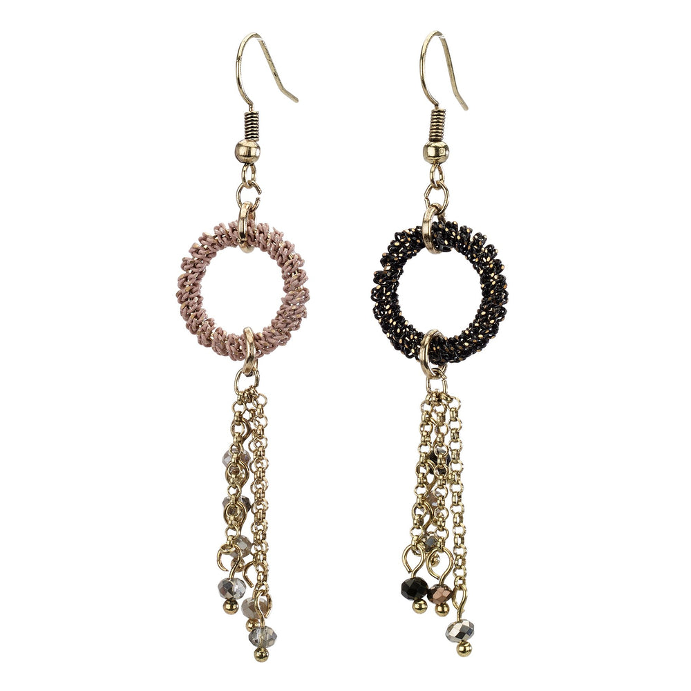 Circle Drop Tassel Earring - Final Sale