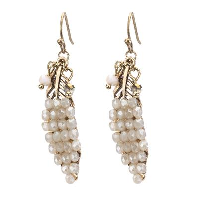 Drop Leaf Beaded Earring - Final Sale