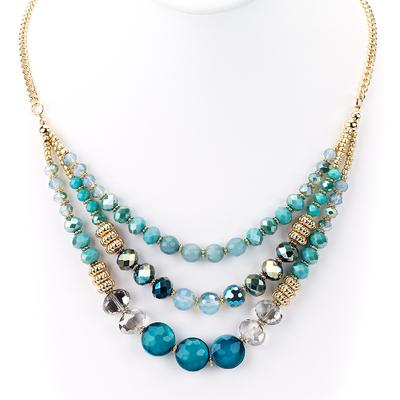 Three Strand Beaded Necklace - Final Sale