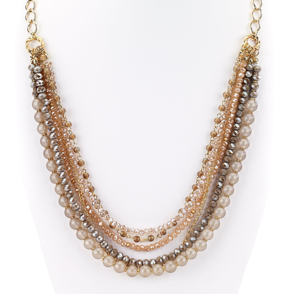Long Chain Necklace With Beads - Final Sale