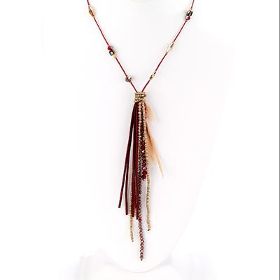 Bead and Feather Necklace - Final Sale