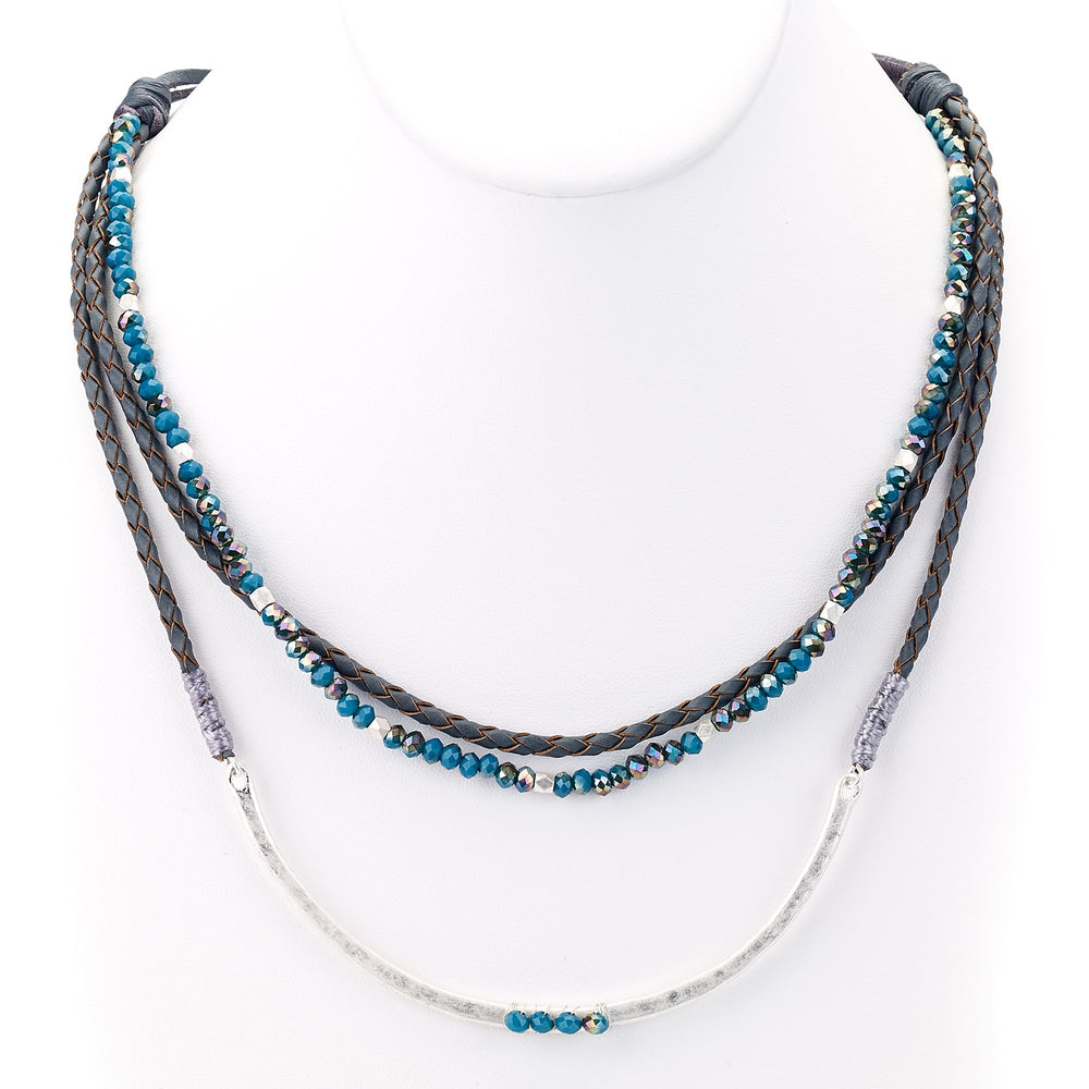 Beaded Braid Necklace - Final Sale