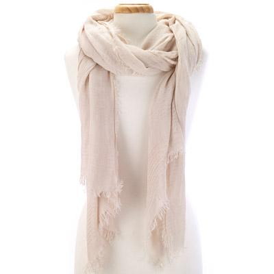 Solid sheer scarf