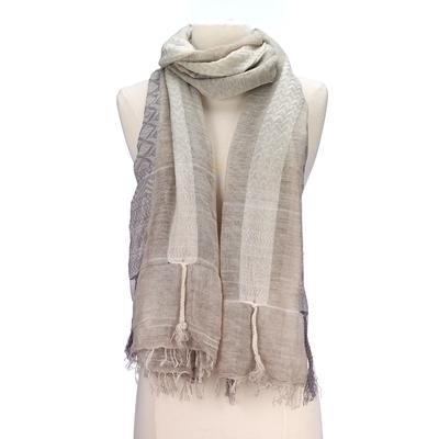 Ethnic stripe design scarf