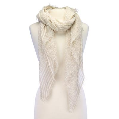 Soft intricate vine design scarf