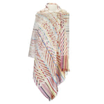 Abstract design striped scarf.