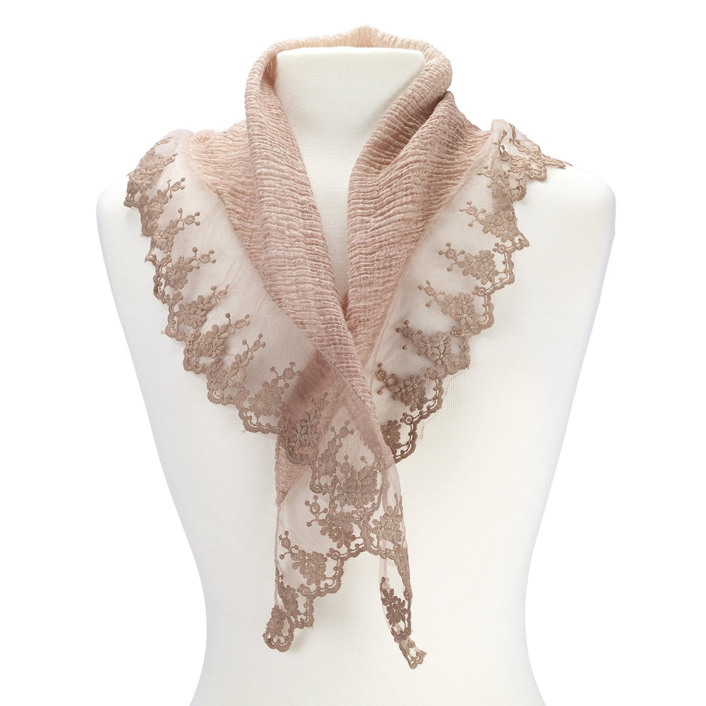 Triangle lace scarf.