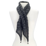 Thin lace fringe scarf.
