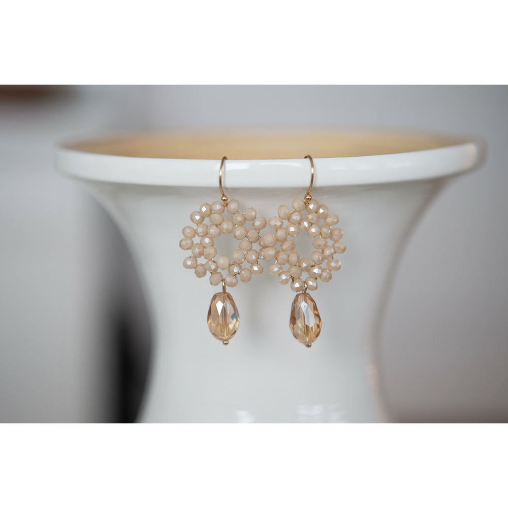 Faceted Bead Drop Earring - Final Sale