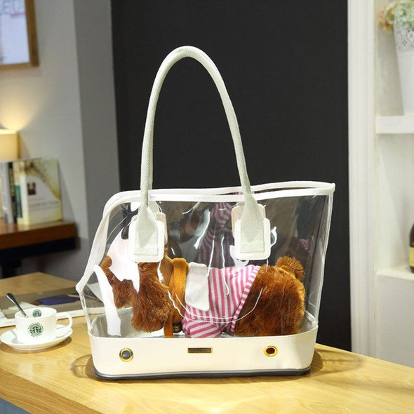 Transparent Swaggy Hand Bag for cute pups