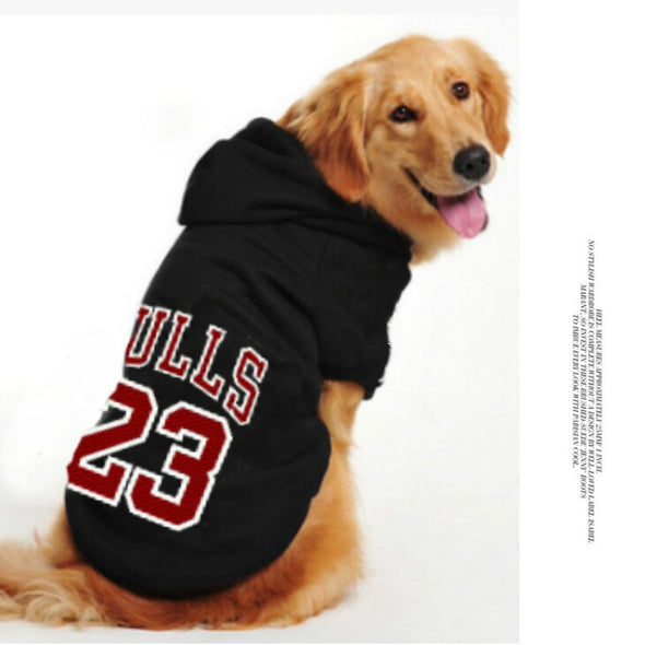 There are numbers on the pet clothes, the number 23 sports dog, hoodie clothes, dog, sleeveless vest, two styles, Keji's clothes