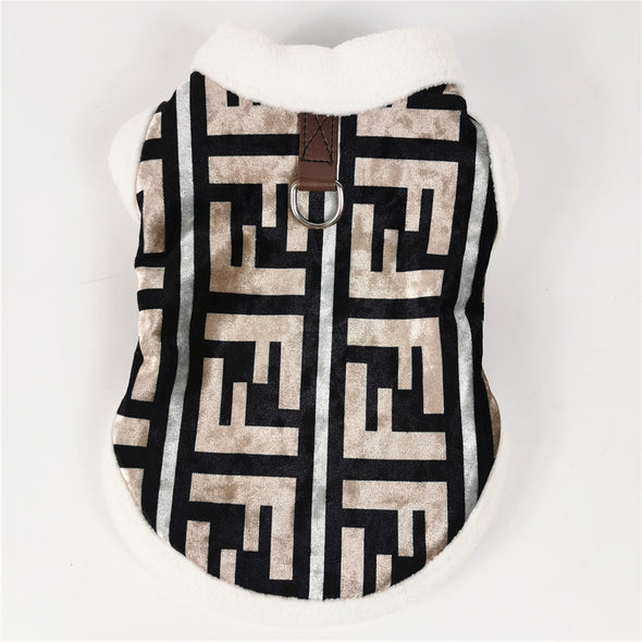 Fendi Fleece Luxury Vest with Leash Ring