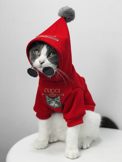Pucci Cat Royal Santa Hoodie with Pompom (HOT ITEM!)