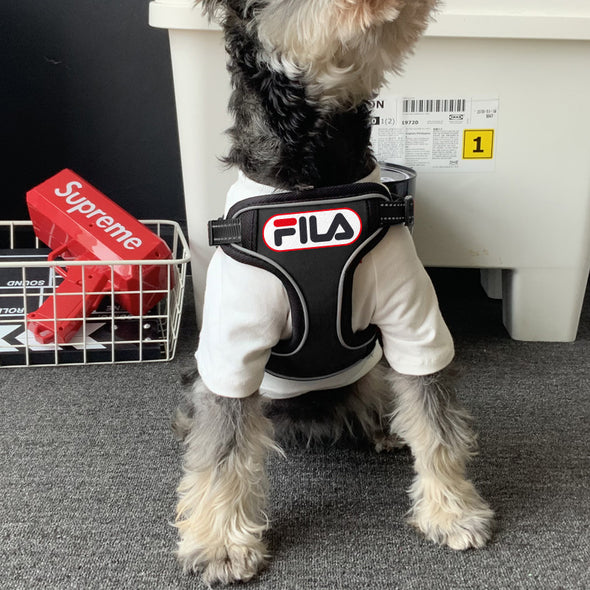 Fila Pup Harness & leash Throwback set