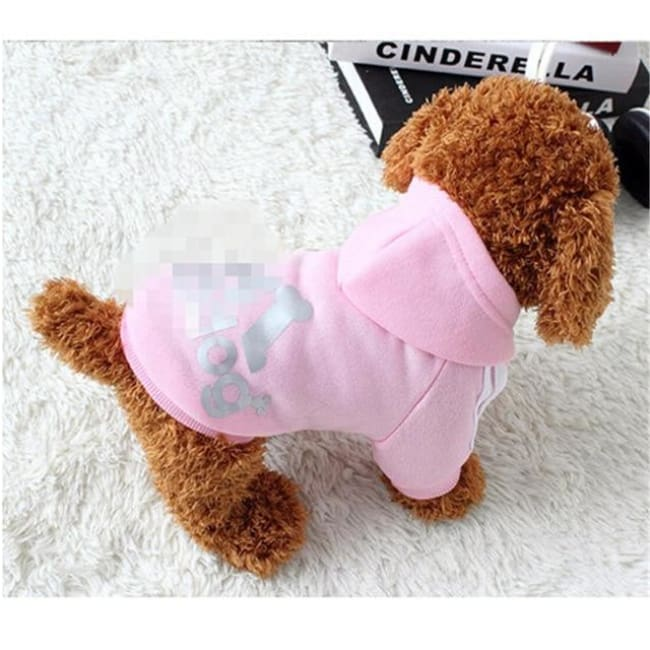Adidog 3 Stripes K9 Hoodie For Big Dogs (Hot Item) - Pink / Xl