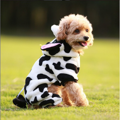Cute Cow Halloween Dog Costume