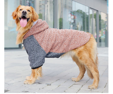 Thick Fleece Hoodie for BIG DOGS