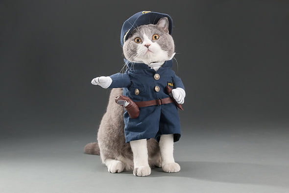 UK Policeman Halloween costume for pets