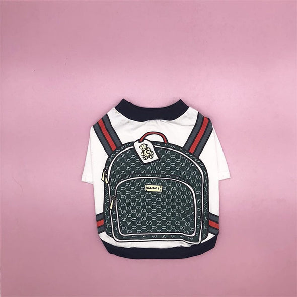 Pucci Backpack High end T-shirt for Dogs