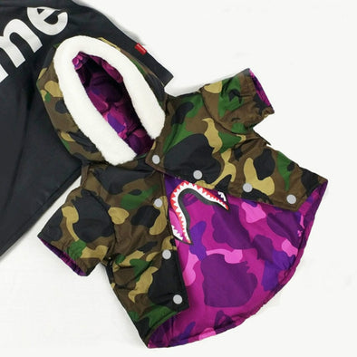 Bathing Pup Reversible Camo Hoodie (SPECIAL EDITION!)