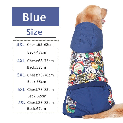 Passport Stamping Snow Jacket for BIG DOGS