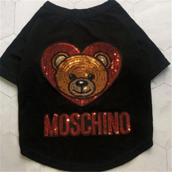 MOSCHINO Cotton Dog Summer Vest Shirt