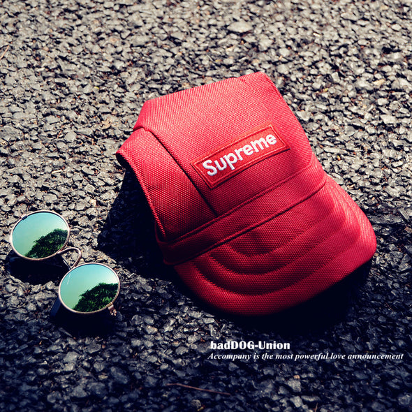 Canvas Pupreme Sport Hat New Item! (Red/Black)